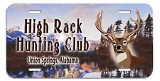 """Deer Buck Mountain License Plate Personalize Gifts Name Text Any Color 6"""" x 12"""""""