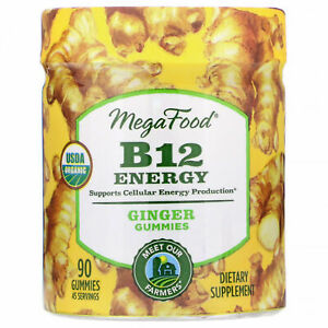 MegaFood, B12 Energy, Ginger, 90 Gummies***EXP MAY 2021**FULLY SEALED