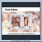 2000 Italia Repubblica Foglietto Avvento Anno Duemila Guerra Pace n. 30 **
