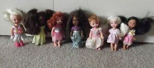 MATTEL Barbie Kelly Friend School Girl Dolls LOT OF 7 Dolls