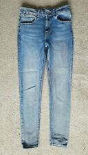 Topshop Super Skinny FOUR Mid Blue High Rise Stretch Jeans Size 8 10 W28 L32