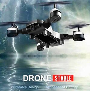 Professional Intelligent Folding Drone Wifi FPV Fixed High HD Camera (Black)