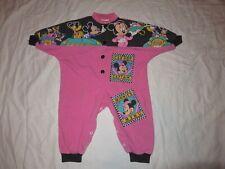 Vintage One piece jump suit Bodysuit Mickey Mouse size 12 months