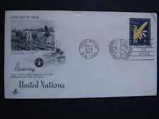 United Nations UN FAO 1954 First Day Cover FDC