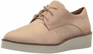 SoftWalk Womens WILLIS Leather Low Top Lace Up Fashion Sneakers, Sand, Size 6.5