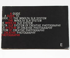 A Guide To Minolta SLR System Of Creative Photography Guide Booklet Specs