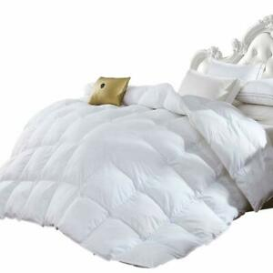 Luxurious Goose Down Comforter 1200 Thread Count Egyptian Cotton Cover Bedding