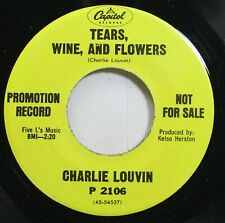 Country 45 Charlie Louvin - Tears, Wine, And Flowers / Will You Visit Me On Sund