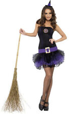 Ladies Tutu Witch Costume Hat Womens Halloween Fancy Dress Smiffys 23211 XS - Extra Small