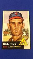 Del Rice - 1953 Topps #68  EX
