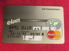 VINTAGE OLD CREDIT CARD: ELAN FINANCIAL SERVICES PLATINUM MASTERCARD