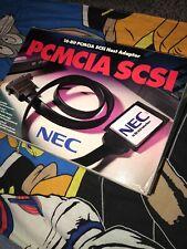 NEC PCMCIA SCSI Adapter PC Card + HD50 Cable NEW (Same Adaptec SlimSCSI 1460)