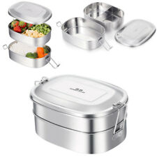 GA 2 Layers Stainless Steel Lunch Box Food Fruit Salad Snack Container 1000ML