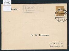 00193) Landpost Ra2 Lankow Schivelbein Land, PP 1930 > Stettin