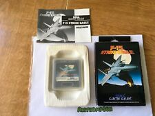 F-15 strike eagle game Sega game gear boxed complete with manual