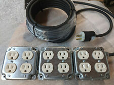 12 Outlet 125V 15A Power Distro Box SJ12/3 w/25 Ft Power Cable, US Made!