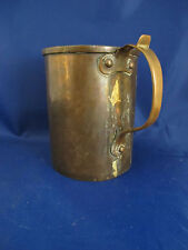"c1890 antique dovetailed hand made copper Russian measure cup laver - 5.75"" 42oz"