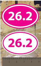 "26.2 Full Marathon Running sticker decal Hot Pink - 2 for 1 (5"")"