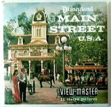3x VIEW MASTER 3D REEL ⭐ DISNEY LAND ⭐ MAIN STREET USA ⭐ A175 / Walt / World