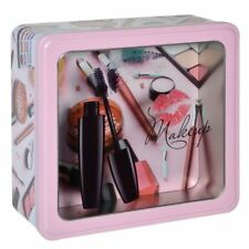 METAL STORAGE CASE POUCH BOX ORGANIZER MAKE UP COSMETIC BRUSH PENCIL 24x22x9cm