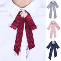 Women Lady Neck Bow Tie Necktie Professional Uniform Female Colleague Bank Staff