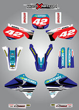 Yamaha YZ 125 / 250 - 1996 - 2001 Full custom graphics kit STRIKE style stickers