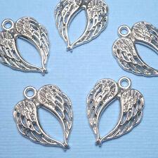 10 pcs Tibetan Silver 22mm Angel Wings Wing Charm Pendant