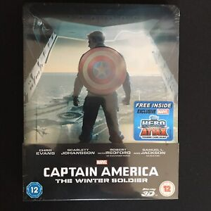Captain America The Winter Soldier Blu Ray Steelbook RARE Brand New Mint Sealed