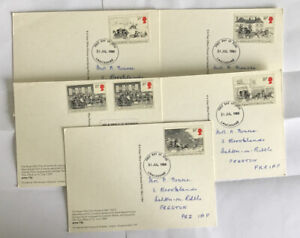 GB QEII 1984 The Royal Mail Coaches FDI PHQ 78 Lancashire HS (only 4 Franked)
