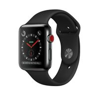 Apple Watch Gen 3 Series 3 Cell 42mm Space Black Stainless Steel - Black Sport