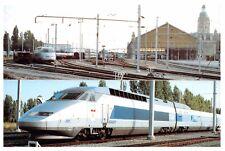 CP 17000 LA ROCHELLE TRAIN TGV Gare 1er rame 2 vues PHOTO PELTIER 1993