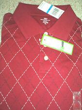 Brand New!! Mens Dockers Full Swing Red Diamond Golf Shirt Size XLarge XL