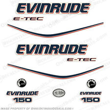 Evinrude 150hp E-Tec Outboard Decals - Engine Stickers 2004 2005 2006 2007 2008