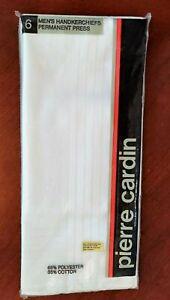Pierre Cardin White Men's Handkerchiefs  NEW