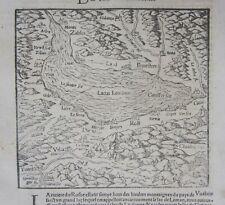 1568 LAC LEMAN Genève Ginevra Cosmographia universalis Munster Switzerland