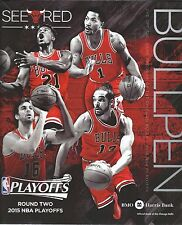 2014 2015 Chicago Bulls Round 2 vs Cavaliers NBA Playoffs Program