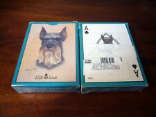 2 Schnauzer Playing Cards Decks Plastic Coated Robert May Great Gift dog