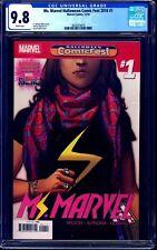 Ms. Marvel #1 COMICFEST VARIANT CGC 9.8 Kamala Khan DISNEY+ NM/MT