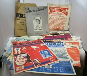 Sixteen items of sheet music from 1940's for piano /piano accordion
