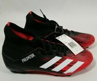 adidas Predator 20.3 FG YOUTH Black/Red Soccer Cleats Sz 6 (EF1930) FREE SHIP