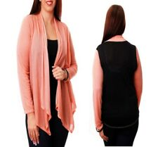 T28 NEW Womens Peach Black Plus Size 22/24 Long Sleeves Knit Outerwear Cardigan