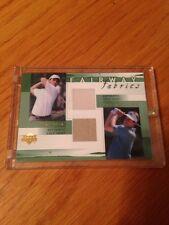 2002 Phil Mickelson Mike Weir Upper Deck Fairway Fabric Shirt Card Mint $$