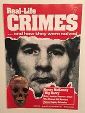 Real-Life Crimes Magazine #7 Murderer Big Harry McKenny Killer Cop True Crime UK
