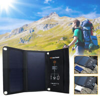 Waterproof Dual USB 5V 2.5A Folding Solar Power Charger Panel Bag For Camping
