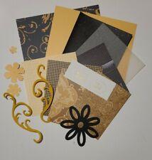 6x6 Paper and Embellishment Card Making Kit Bundle Golden Flourishes