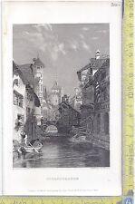 Litografia - Schaffausen - .XIX  Secolo