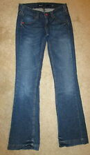 Miss Sixty Ex Love Stretch Flare Juniors Womens Dark Jeans Size 25 x 31.25