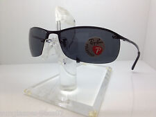 NEW RAY BAN RB 3183 002/81 SUNGLASSES RB3183 RAYBAN BLACK/SMOKE POLARIZED