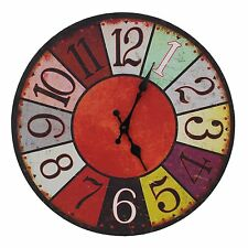 French Style Large Wooden Shabby Chic Rustic 38cm Wall Clock