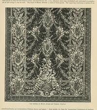 ANTIQUE LACE CURTAIN BY MESSRS. JACOBY & COMPANY ENGLAND ROSES GARLAND ART PRINT